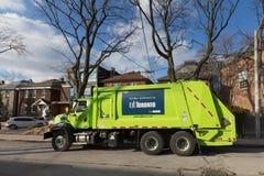 GFL Garbage Truck in Toronto Stock Image
