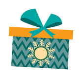 Gft box with ribbon vector. Royalty Free Stock Images