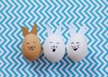 Ägg för påskkanin Arkivbilder