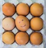 Ägg med framsidor Royaltyfria Bilder