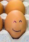 Ägg med framsidor Royaltyfri Foto
