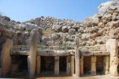 Ggantija tempel Arkivfoton