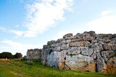 Ggantija Tempel bleibt in Gozo Stockbild