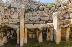 Ggantija tempel - Gozo, Malta Royaltyfria Foton