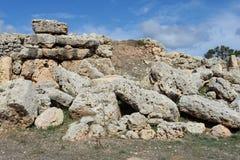 Ggantija tempel i Gozo, Malta Fotografering för Bildbyråer