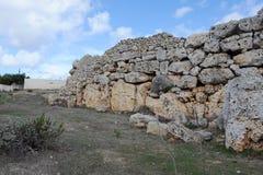Ggantija tempel i Gozo, Malta Royaltyfria Bilder