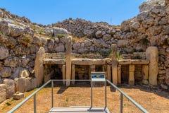 Ggantija Temple Remainings Royalty Free Stock Images