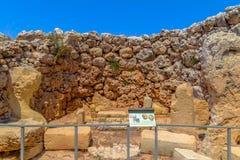 Ggantija Temple Remains Stock Images