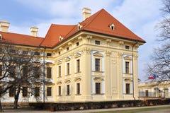 Ggarden of Slavkov castle Stock Image
