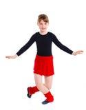 Ggirl поезда гимнаста стоковое фото rf