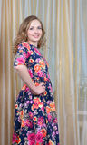 Ggirl  is in a beautiful summer dress Royalty Free Stock Photography