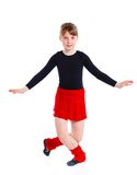 Ggirl the gymnast trains Royalty Free Stock Photo