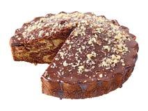 Gglazed en bestrooide pastei zonder een stuk Royalty-vrije Stock Afbeelding