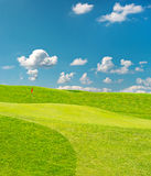 Ggolf field. beautiful green landscape Royalty Free Stock Photo