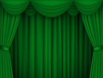 Ggreen Curtain Royalty Free Stock Photography
