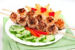 ggrill λαχανικά κρέατος Στοκ Φωτογραφίες