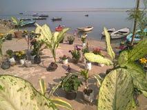 Ghaat του Varanasi, Ινδία Στοκ Φωτογραφία