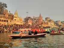 Ghaat di Varanasi Immagini Stock