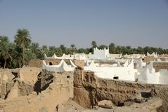 ghadames利比亚屋顶 图库摄影
