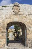 Ghajn Qajet Farmhouse. An old farmhouse with the Grandmaster Pinto's coat of arms on the facade Stock Photo