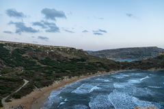 Ghajn Tuffieha Bay near Golden Bay - Malta Stock Image