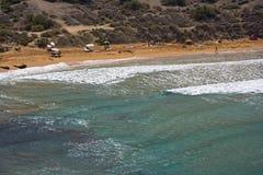 Ghajn Tuffieha Beach, Malta. A smaller beach near the famous Golden Bay on Malta Stock Images