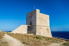 Ghajnsielem, Malta - May 8, 2017: Mgarr ix-Xini  Watch Tower in Gozo Island. Mgarr ix-Xini  Watch Tower in Gozo Island Royalty Free Stock Photo