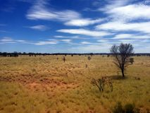 On the Ghan, looking out of the window Stock Photography