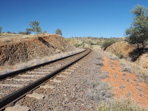 The Ghan railway track from north of Alice Springs Stock Photography