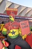 GhanaâDie Hardâ fotbollsupportrar Arkivbild