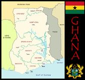 Ghana Administrative divisions Stock Photo