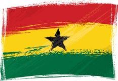 Ghana bandery crunch Zdjęcie Royalty Free