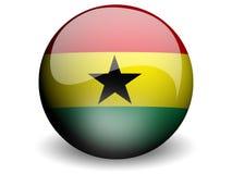 Ghana bandery round ilustracja wektor