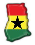 Ghana button flag map shape Royalty Free Stock Image