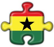 Ghana button flag puzzle shape Royalty Free Stock Photo