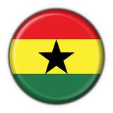 Ghana button flag round shape Royalty Free Stock Photo