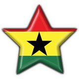 Ghana button flag star shape Royalty Free Stock Image