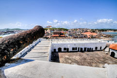 Ghana: Cannons of Elmina Castle World Heritage Site, History of Stock Images