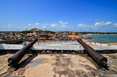 Ghana: Cannons of Elmina Castle World Heritage Site, History of Royalty Free Stock Image