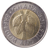 100 Ghana cedis (second cedi) coin, 1999, face Royalty Free Stock Photo