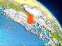 Ghana de la órbita ilustración del vector