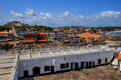 Ghana: Elmina Castle World Heritage Site, History of Slavery. Elmina Castle (also called the Castle of St. George) is located on the Atlantic coast of Ghana west Stock Photography