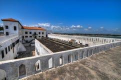 Ghana: Elmina kasztelu światowego dziedzictwa miejsce, historia niewolnictwo Zdjęcie Stock