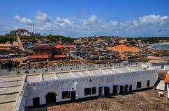 Ghana: Elmina slottvärldsarv, historia av slaveri Arkivbild