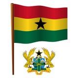 Ghana falista flaga ilustracji