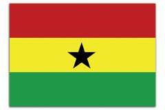 Ghana flag Royalty Free Stock Photo