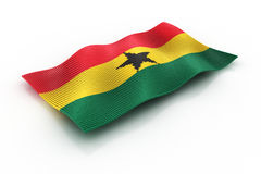 Ghana. The flag of Ghana, consisting of cubes Royalty Free Stock Image