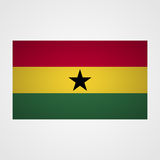 Ghana flag on a gray background. Vector illustration Stock Photos