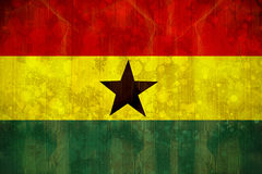 Ghana flag in grunge effect Stock Photo