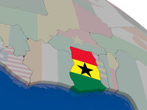 Ghana with flag Royalty Free Stock Photography